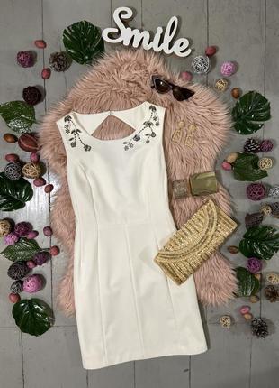 Актуальное базовое платье с декором на плечах №301