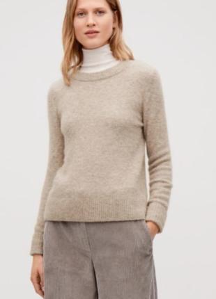 Шерстяной свитер шерсть альпаки cos