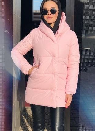 Теплая зефирка зимняя куртка женская пуховик осень демисезонная зима