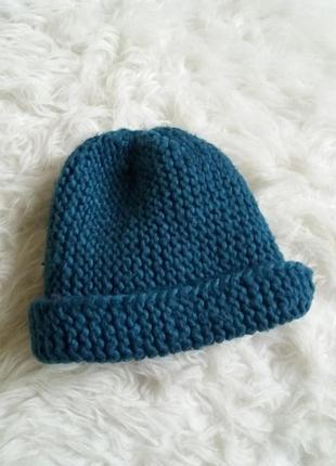 Вязаные шапки толстые