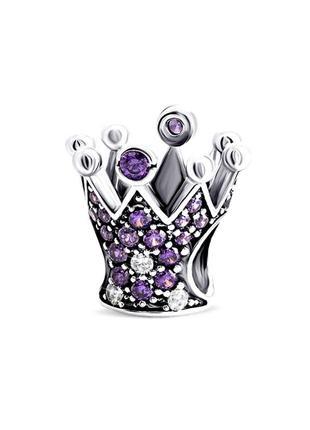 Срібна намистина шарм корона