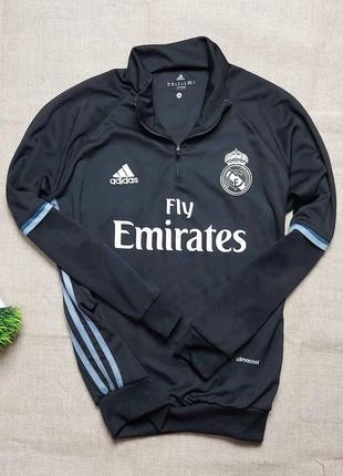 Лонгслив adidas, тренировочная кофта real madrid adidas fly emirates, футбольная олимпийка
