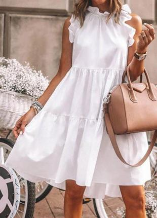 Супер мягкое и воздушное платье  как облачко из лёгкой ткани софт размер 42-46