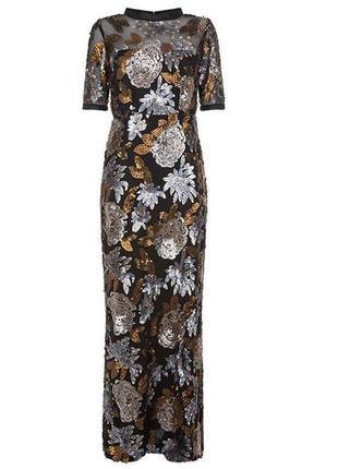 Распродажа сверкающее платье darling длинное пайетки с asos