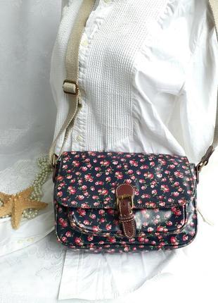 Cath kidston london original сумка мессенджер натуральный коттон розы британия