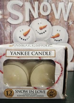 Подарок -  чайная свеча от yankee candle - snow in love.