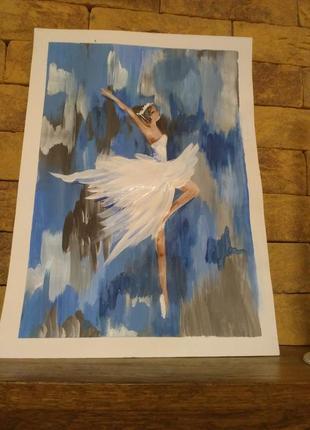 """Картина """"балерина"""" живопись."""