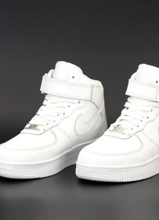 Белые кроссовки nike зима