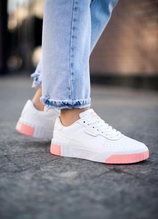 Puma cali white pink 🍏 стильные женские кроссовки пума