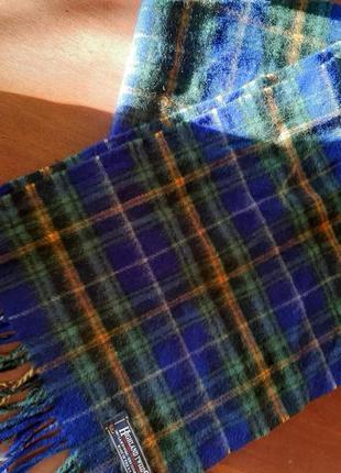 Шарф шерстяной в клетку, highland tweed
