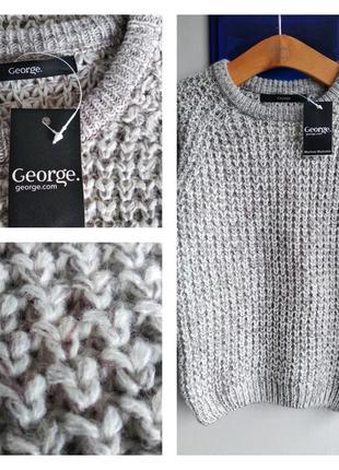 ❄️🦌🎄 теплый стильный базовый свитер/джемпер на 3-4 года george ❄️🦌🎄