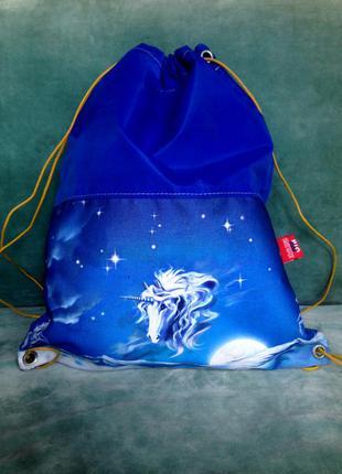 Big boss swiss made ® рюкзак-мешок с принтом размер one size единорог