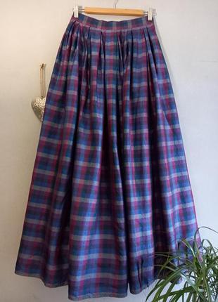 Винтажная фактурная шелковая пышная юбка lodenfrey шёлк100%