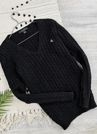 Черный брендовый свитер ralph lauren размер м