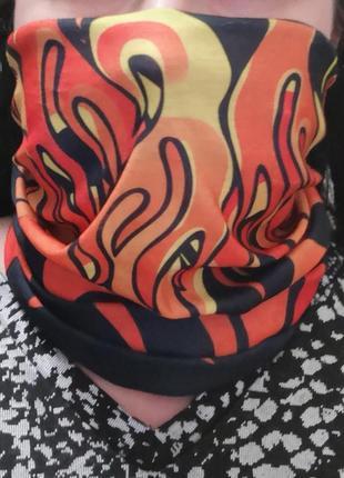 """Бафф маска защитная хомут баф шарф снуд """"fire"""" probeauty"""