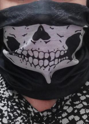 "Бафф маска защитная хомут баф шарф снуд ""skull"" probeauty"