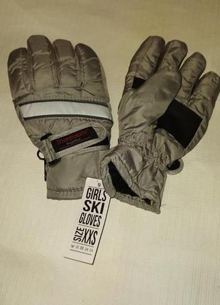 Лыжные перчатки girls ski gloves thermolate, xxs размер