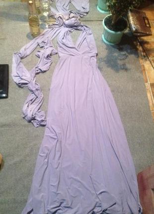 Платье трансформер, цвет нежной сирени.