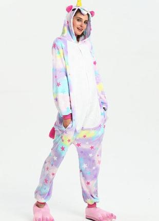 Кигуруми пижама звездный единорог