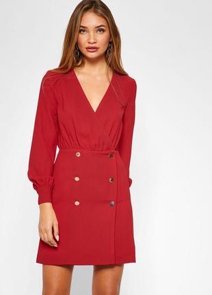 Topshop платье двубортное красное новое с биркой размер 34