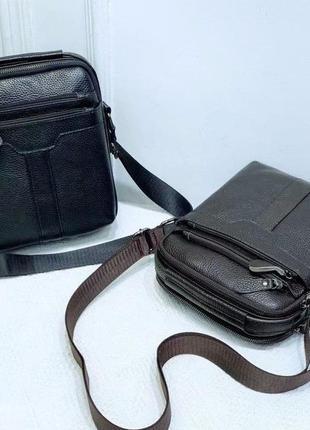 Тор☝️кожаная мужская сумка барсетка коричневая/сумка на плечо кожаная для планшета и документов