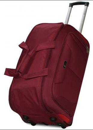 Дорожная сумка на 2 колесах fly 2611 бордовая