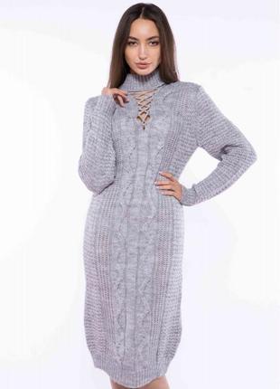 Платье вязаное 120przgr767-1