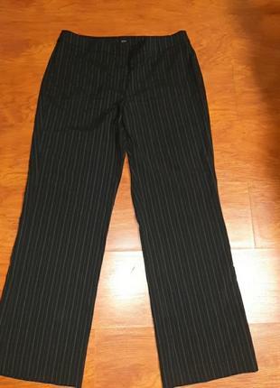Штаны черные в полоску