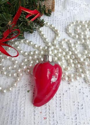 Красный перец болгарский перчик елочная игрушка ссср стеклянная советская