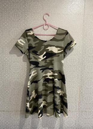 Платье камуфляжная расцветка