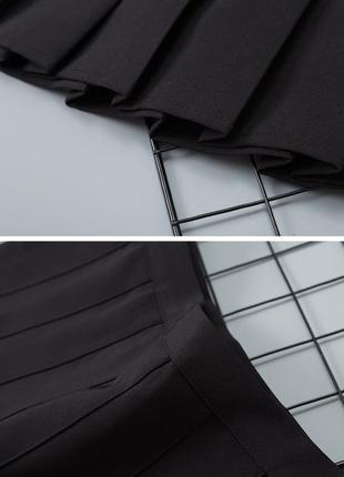 Юбка в складку мини плиссированная3 фото