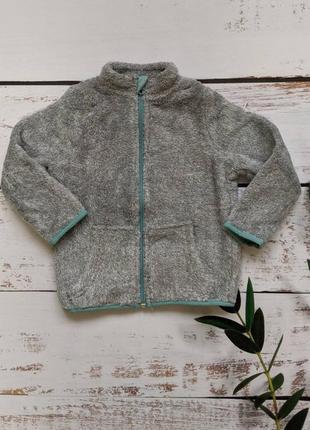 Теплая кофта мешовушка на замке унисекс  куртка 2 года 86 92
