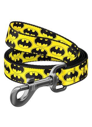 "Поводок waudog nylon, рисунок ""бэтмен лого"" dc comics"