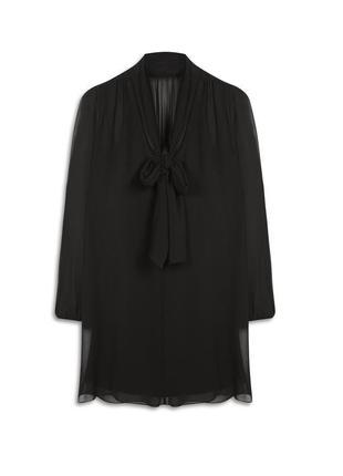 Черное шифоновое платье со стречевой подкладкой 18-20 uk atmosphere2 фото