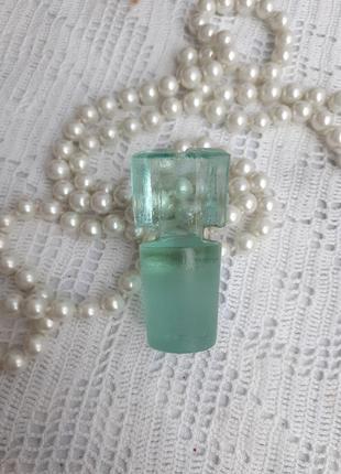 Пробка ссср штофорная притертая из цельного кристалла советская купоросное стекло