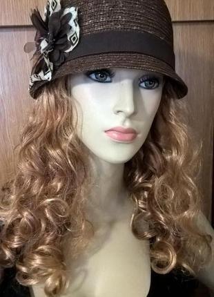 Шляпка-клош летняя  шляпа чехия оригинал