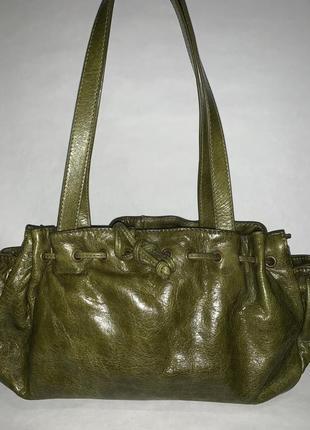 Кожаная фирменная сумочка на/ в руку, на плечо jigsaw.