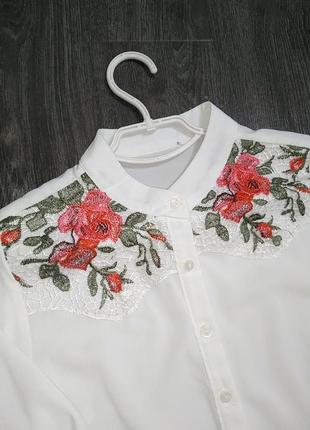 Блуза,рубашка з вишивкою 🌹