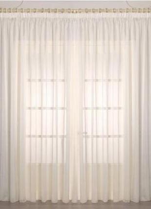 Элегантная классика, нежный крем отрез органзы, штора, декор окон, стола, 145*350 см