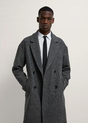 Зимнее шерстяное пальто zara