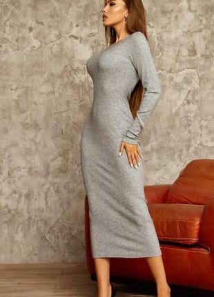 Платье миди резинка по фигуре
