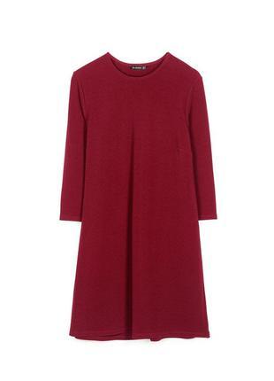 Бордовое платье размер м