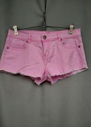 Трендовые короткие розовые шорты от denim co