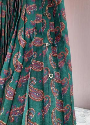 Винтажная юбка в складки - плиссе cacharel