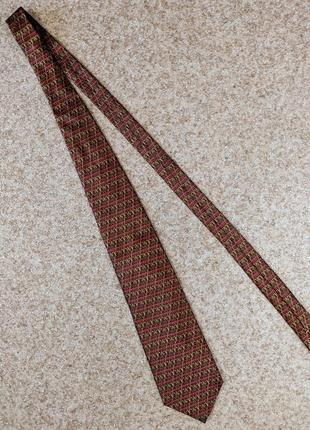 Шелковый галстук yves saint laurent paris