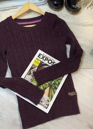 N8 свитер superdry бордовый свитер супердрю