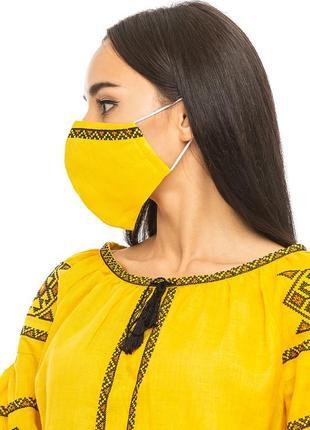 Блуза жіноча світодара (льон жовтий)2 фото