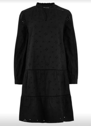 Ярусное хлопковое платье из прошвы,платье с вышивкой