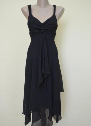 Элегантное классическое черное платье