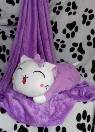 Плед с подушкой китти